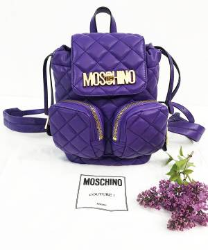 Кожаный рюкзак Moschino Quilted Mini Backpack