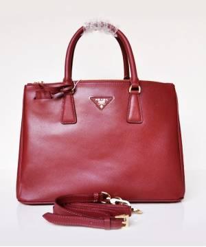 Сумка Prada Saffiano Lux Tote Bag Claret