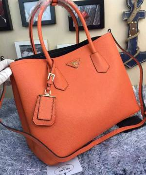 Сумка Prada Cuir Double Bag Orange