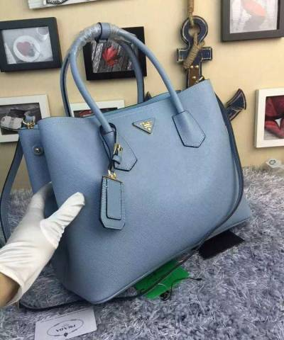 Сумка Prada Cuir Double Bag Light Blue