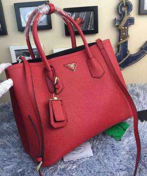 Сумка Prada Cuir Double Bag Red