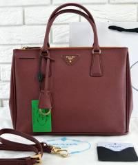 Сумка Prada Saffiano Lux Tote Bag Burgundy