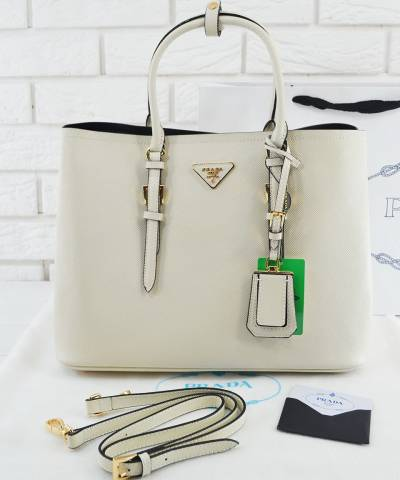 Сумка Prada Cuir Double Bag White