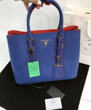 Сумка Prada Cuir Double Bag Royal Blue