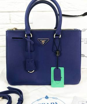 Сумка Prada Saffiano Lux Tote Bag Navy Blue