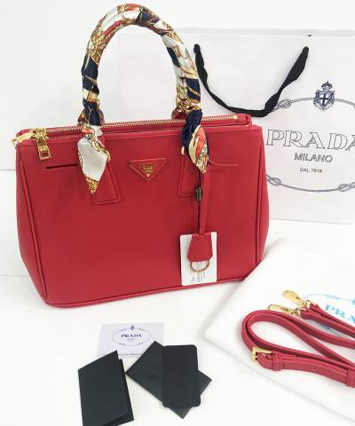 Сумка Prada Saffiano Lux Tote Bag Red