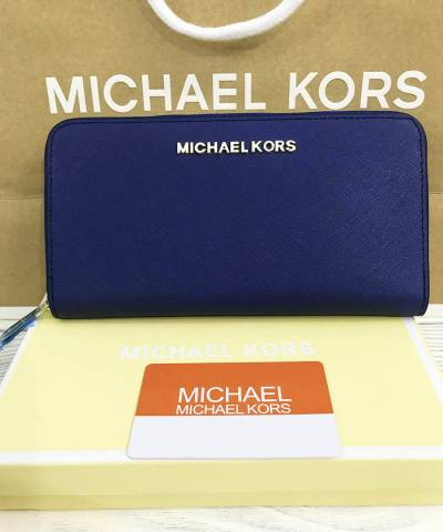 Кошелек Michael Kors Saffiano Dark Blue