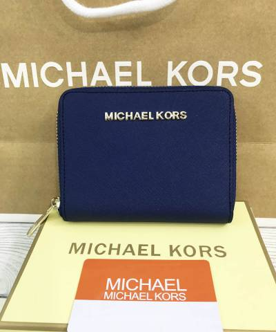 Кошелек Michael Kors Saffiano Small Dark Blue