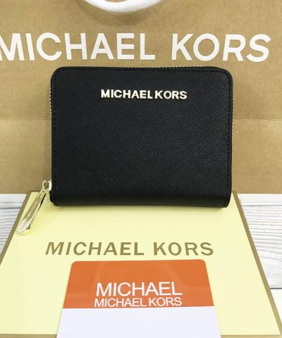 Кошелек Michael Kors Saffiano Small Black