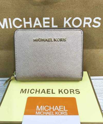 Кошелек Michael Kors Saffiano Small Gold
