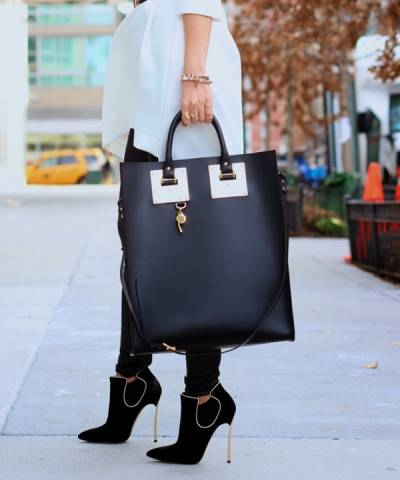 Сумка Sophie Hulme Large Tote Black Bag