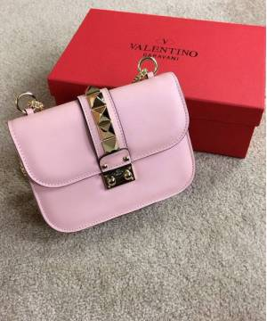 Сумка Valentino Rockstud Lock Pink