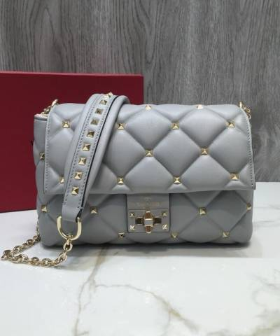 Сумка Valentino Garavani Candystud Medium Shoulder Bag Grey