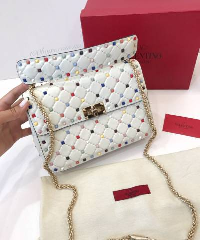 Сумка Valentino Rockstud Quilted Leather Shoulder Bag