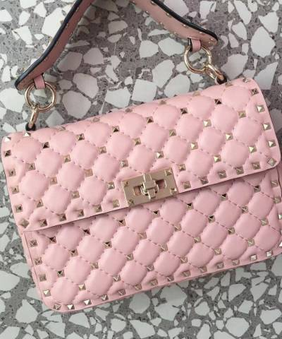 Сумка Valentino Garavani Medium Rockstud Spike Bag Pink
