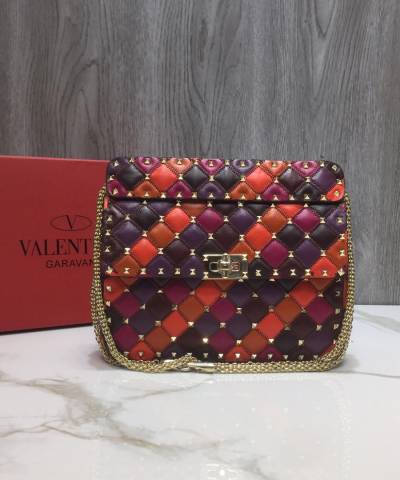 Сумка Valentino Patchwork Medium Rockstud Spike Bag