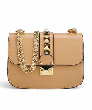 Сумка Valentino Rockstud Lock Coffee