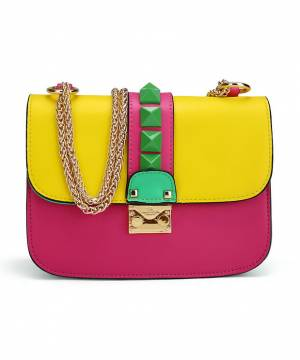 Сумка Valentino Rockstud Lock Bright Pink
