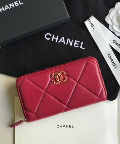 Кошелек Сhan*l 19 Flap Long Flap Wallet Red