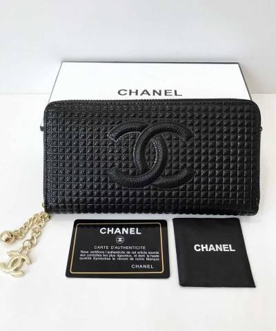 Кошелек Сhan*l Patent Leather Zip Wallet