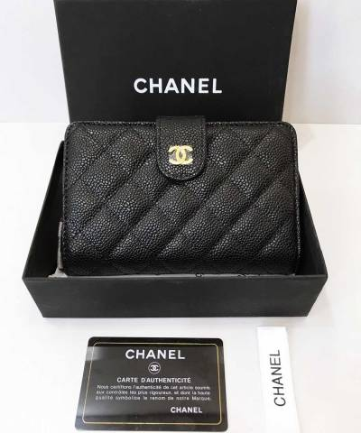 Кошелек Ch*nel Caviar L-Zip Pocket Zip Wallet