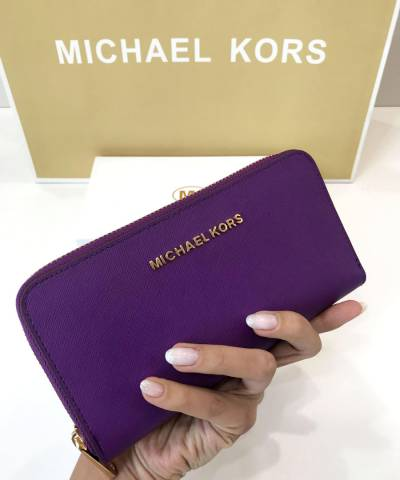 Кошелек Michael Kors Saffiano Purple