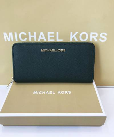 Кошелек Michael Kors Jet Set Travel Saffiano Leather Continental Wallet Moss