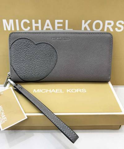Кошелек Michael Kors Jet Set Travel Continental Wristlet Grey