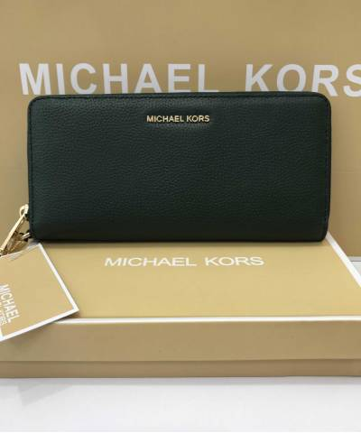 Кошелек Michael Kors Jet Set Travel Continental Wristlet Racing Green