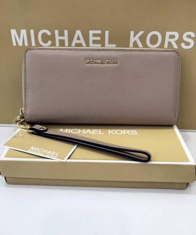 Кошелек Michael Kors Jet Set Travel Continental Wristlet Truffle
