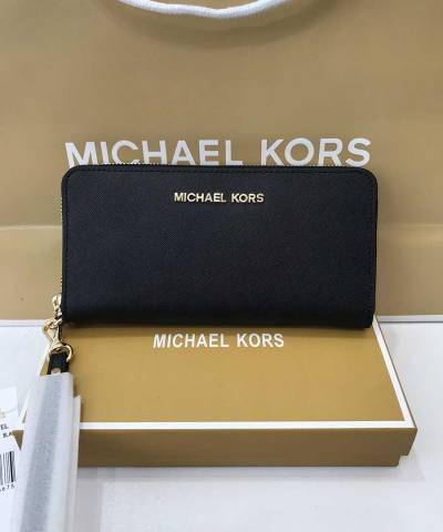 Кошелек Michael Kors Jet Set Travel Wristlet Black