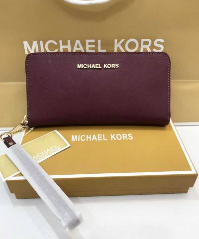 Кошелек Michael Kors Jet Set Travel Wristlet Red Wine