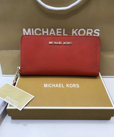 Кошелек Michael Kors Jet Set Travel Wristlet Red