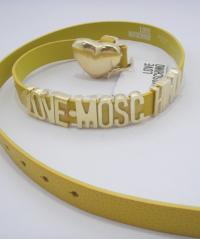 Ремень Moschino с сердцем желтый