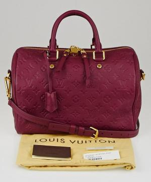 Сумка Louis Vuitton Speedy Burgundy