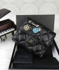 Кошелек Шанель квадратный в черном цвете
