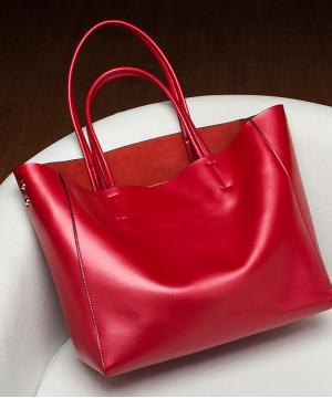 Сумка кожаная Venof Tote Bag (красная)