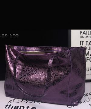 Cумка кожаная Shopper Violet