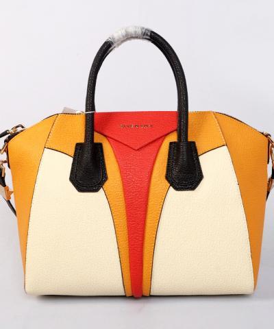 Сумка Givenchy Antigona бежевая с желтыми вставками